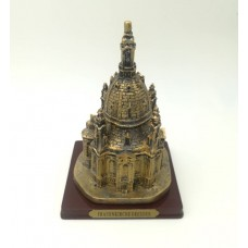 Model of the Frauenkirche (Church Of Our Lady), golden, large