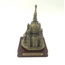 Model of the Frauenkirche (Church Of Our Lady). golden
