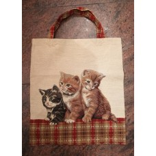Tapestry Eco Tote Carry Bag -Three Kittens