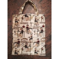 Tapestry Eco Tote Carry Bag -Lady in Café- Rendezvous