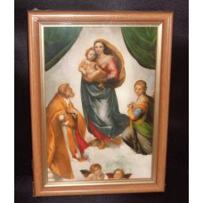 """""""Sixtine Madonna"""" Picture in a Wooden Frame"""