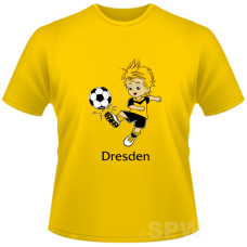 Kid´s Shirtwith a  Soccer Player on a yellow Shirt